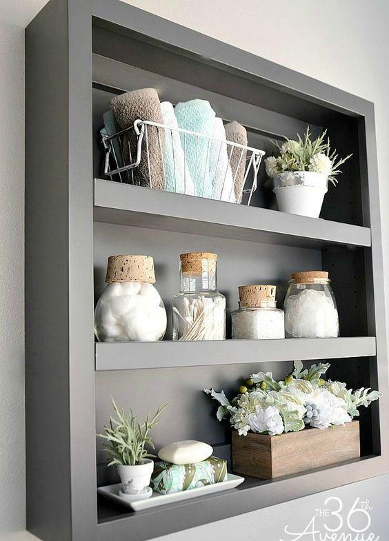 Estanterías y armarios para el cuarto de baño | Decoración de baños ...