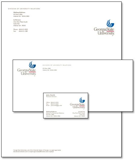 georgia state university graduate school gpa requirements sample - Official Letterhead