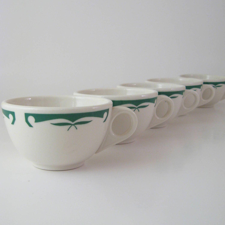 Vintage Restaurant Ware Cups, Set of 5, Homer Laughlin Best China ...