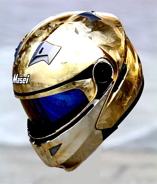Masei 815 Gold IceChrome Modular Flip-Up Motorcycle Helmet - Custom Order - Free Shipping