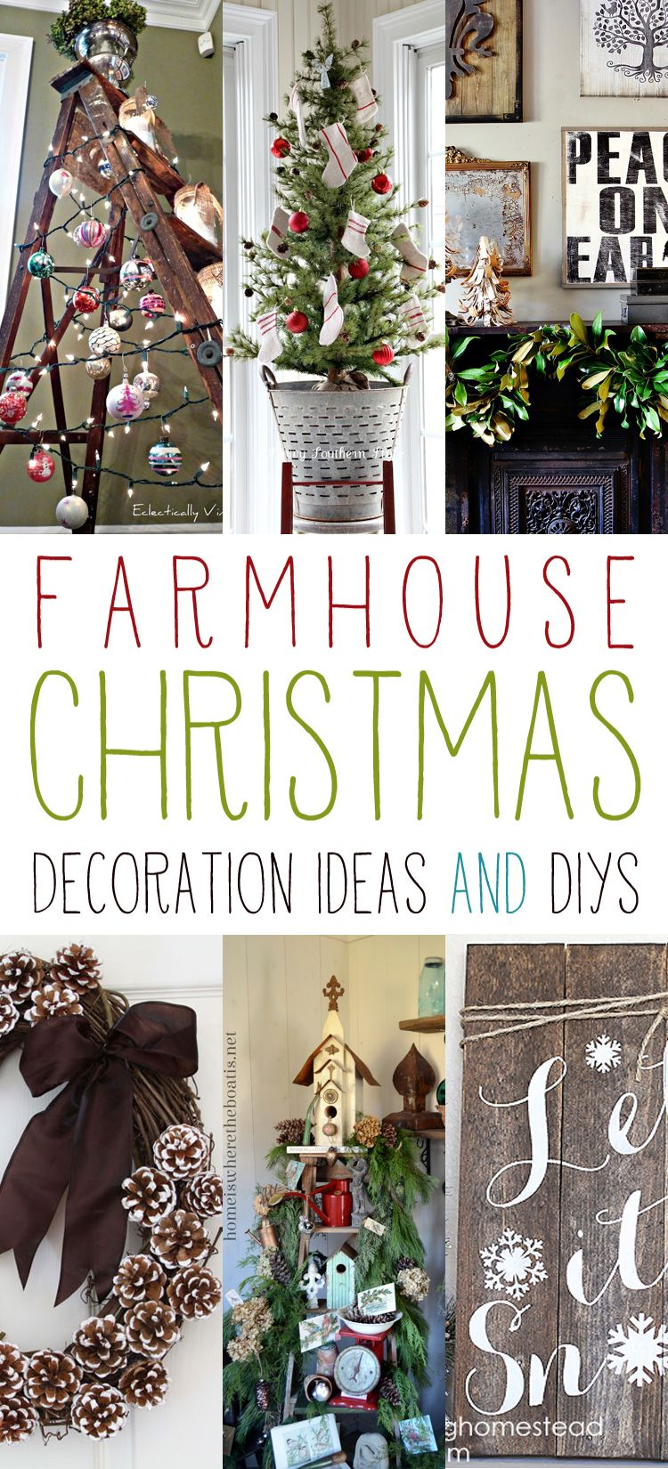 Farmhouse Christmas Decoration Ideas and DIYs | Diys, Decoration and ...