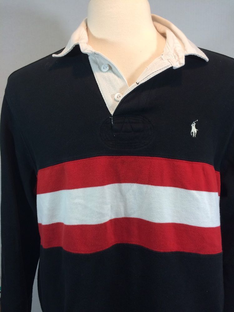 739157a46b0 ... shirt by Front Row. Polo Ralph Lauren Rugby Large Classic Look White  Strip Long Sleeve #PoloRalphLauren #PoloRugby