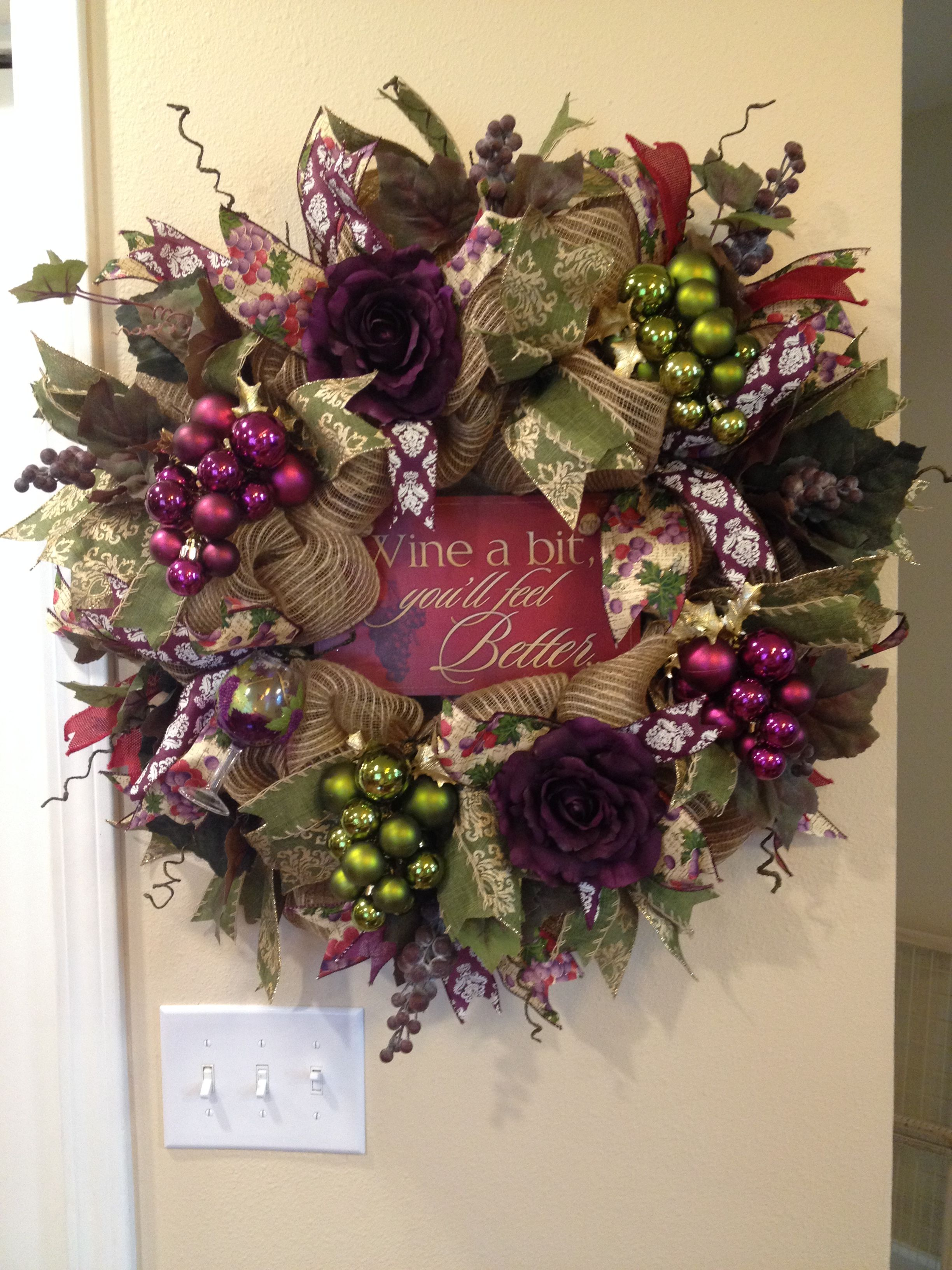 Pin by Andrea Bioletto on wine theme wreaths Pinterest