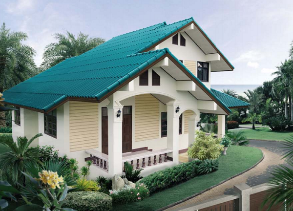 Double Story Beautiful House Design And Plan In Thai Style Utility Area 151  Square Meters
