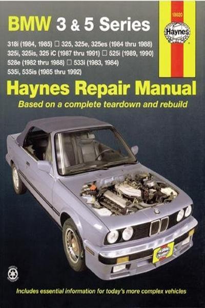 Bmw 3 5 Series 82 92 Haynes Repair Manual By John Haynes Haynes Manuals N America Inc Repair Manuals Bmw Repair