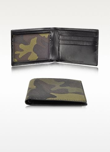 21ae02ad088b Michael Kors Camouflage Saffiano Eco Leather Bi-Fold Wallet -- Need this -mh