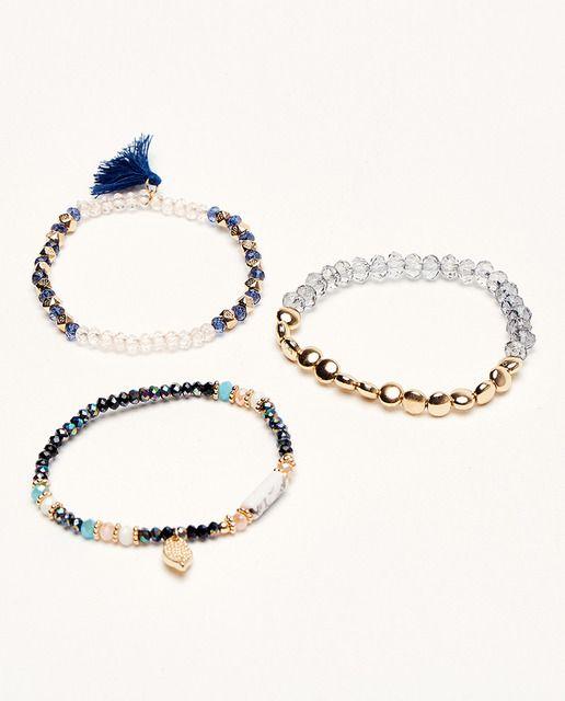 12801e74f307 Set de pulseras Sfera elásticas multicolor