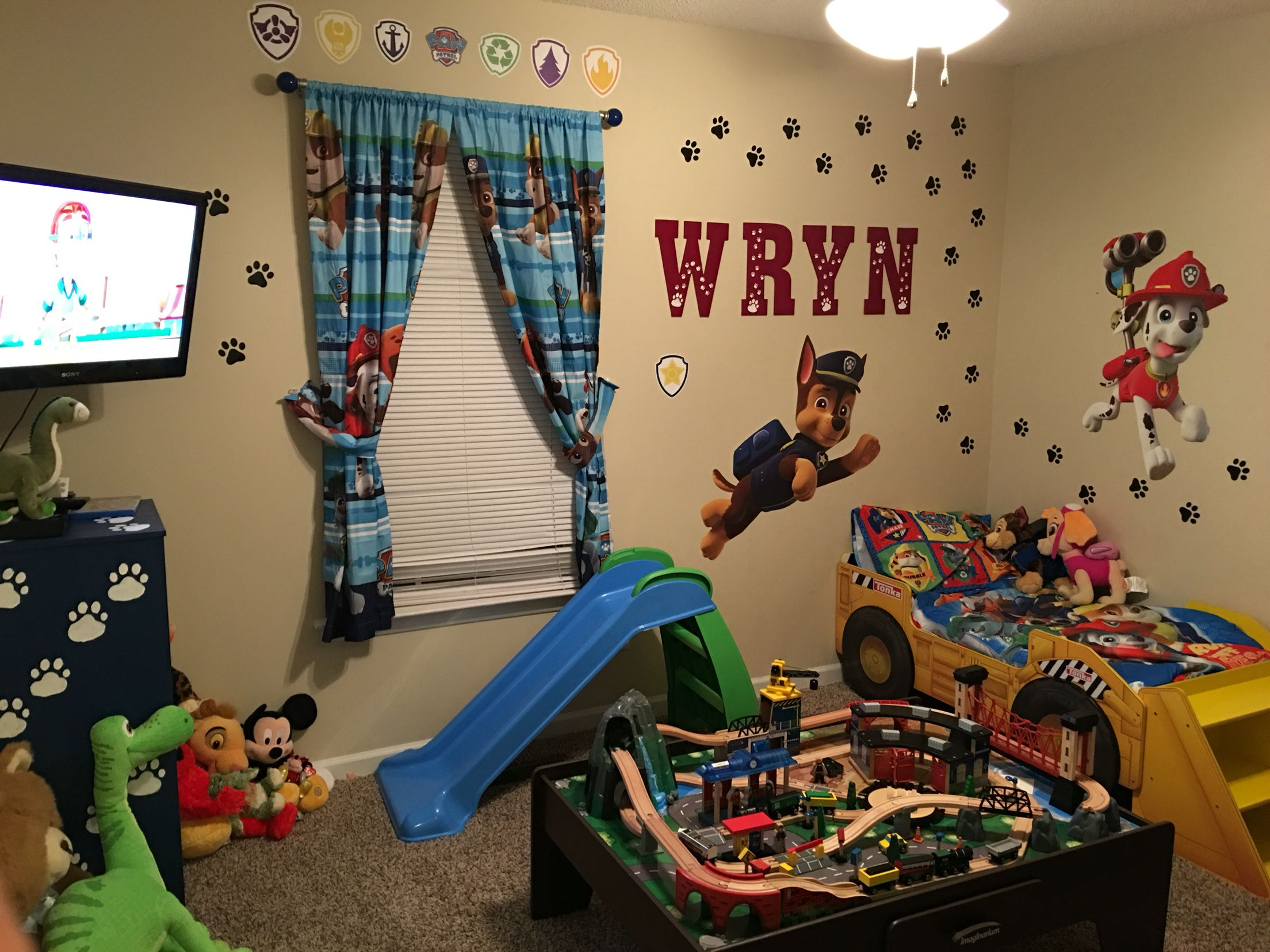 paw patrol room decor This is a cool idea however i would never put a t.v. in a toddlers  paw patrol room decor