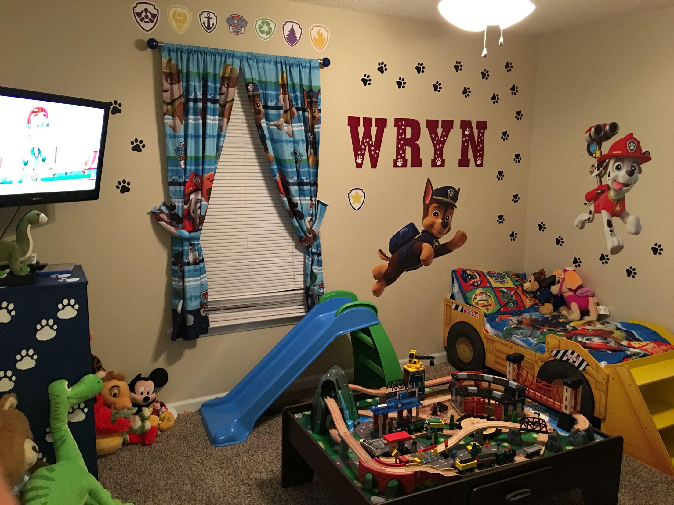 My Sons New Room Paw Patrol Room Paw Patrol Bedroom Decor Paw