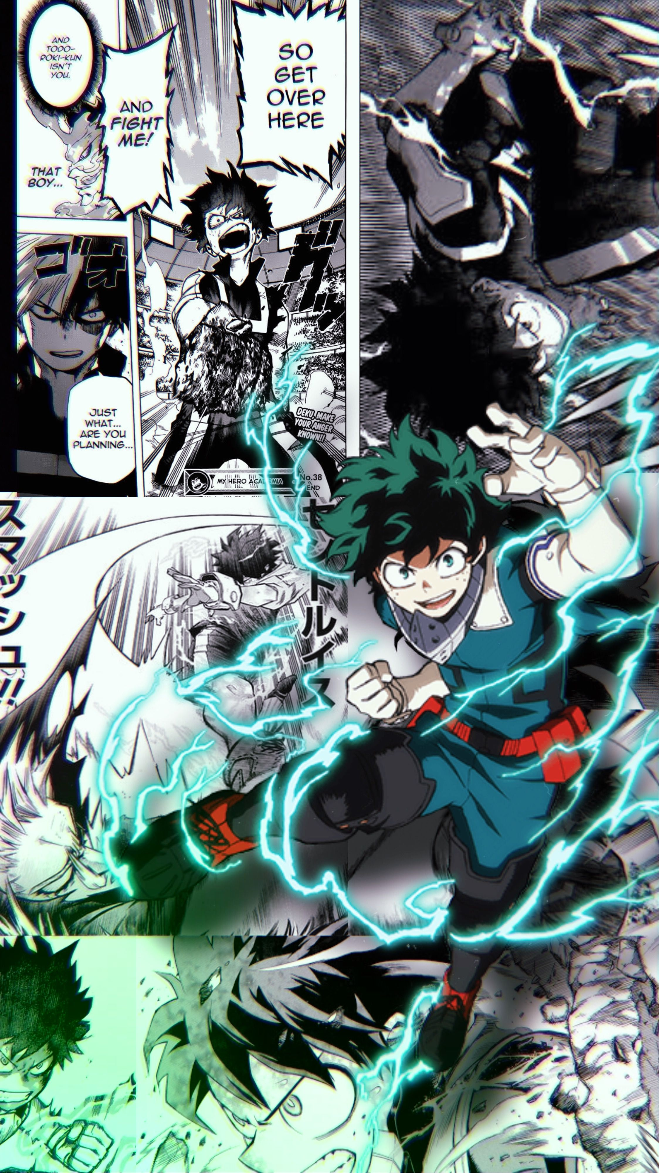 Deku Manga Panel Wallpaper In 2020 Anime Wallpaper Iphone Anime Wall Art Anime