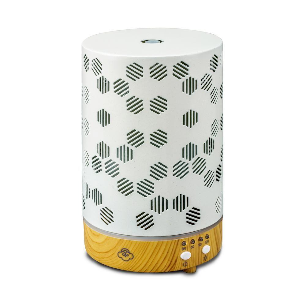 Serene House Honeycomb Ultrasonic Aromatherapy Diffuser White