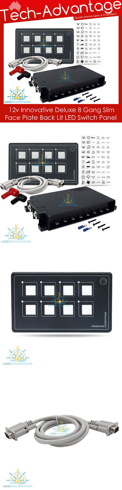 Boat Parts 12v 8 Gang Led Back Lit Membrane Touch Boat Caravan Dashboard Night Switch Panel Buy It Now Only 185 0