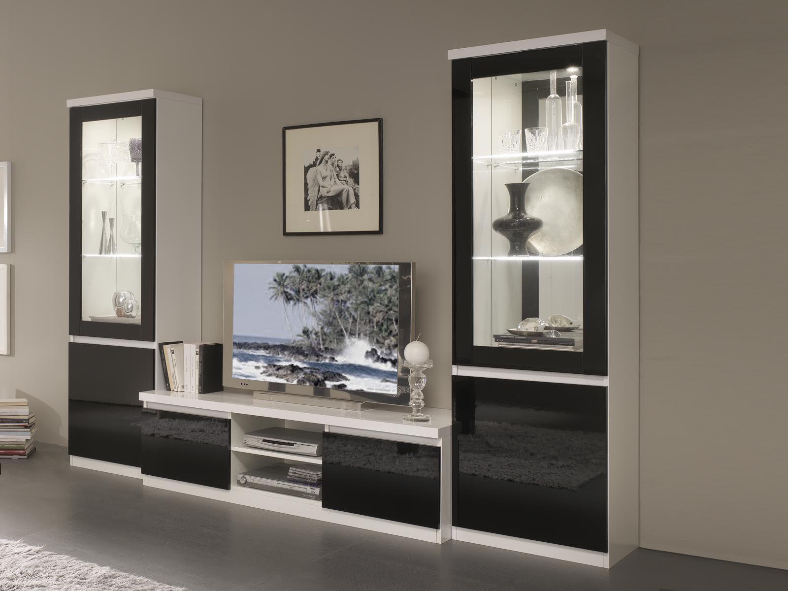 Tv Meubel Set Romeo Hoogglans Wit Zwart In 2020 Meubels Tv Meubel Interieur