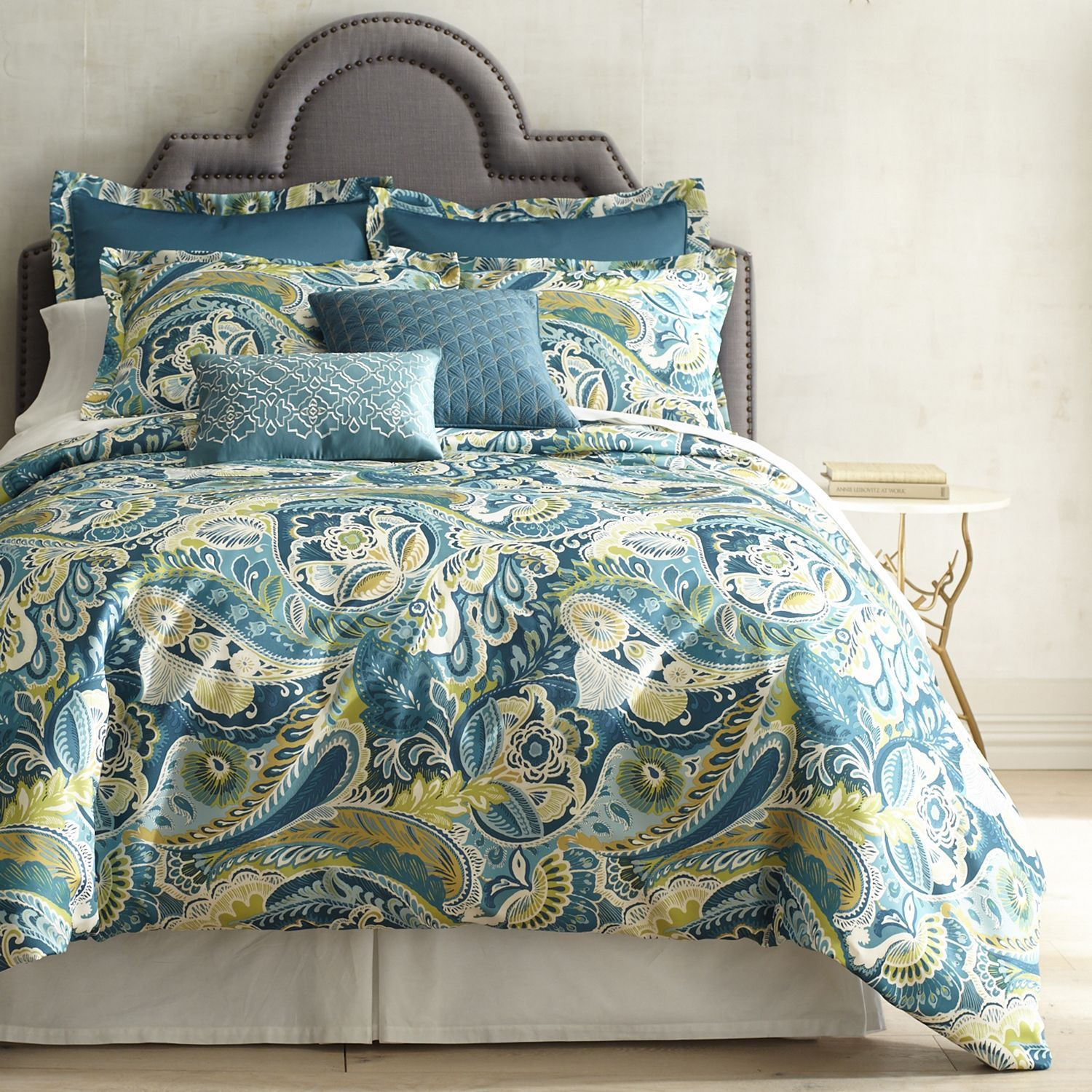 Vibrant Paisley Teal Duvet Cover Sham Products Paisley