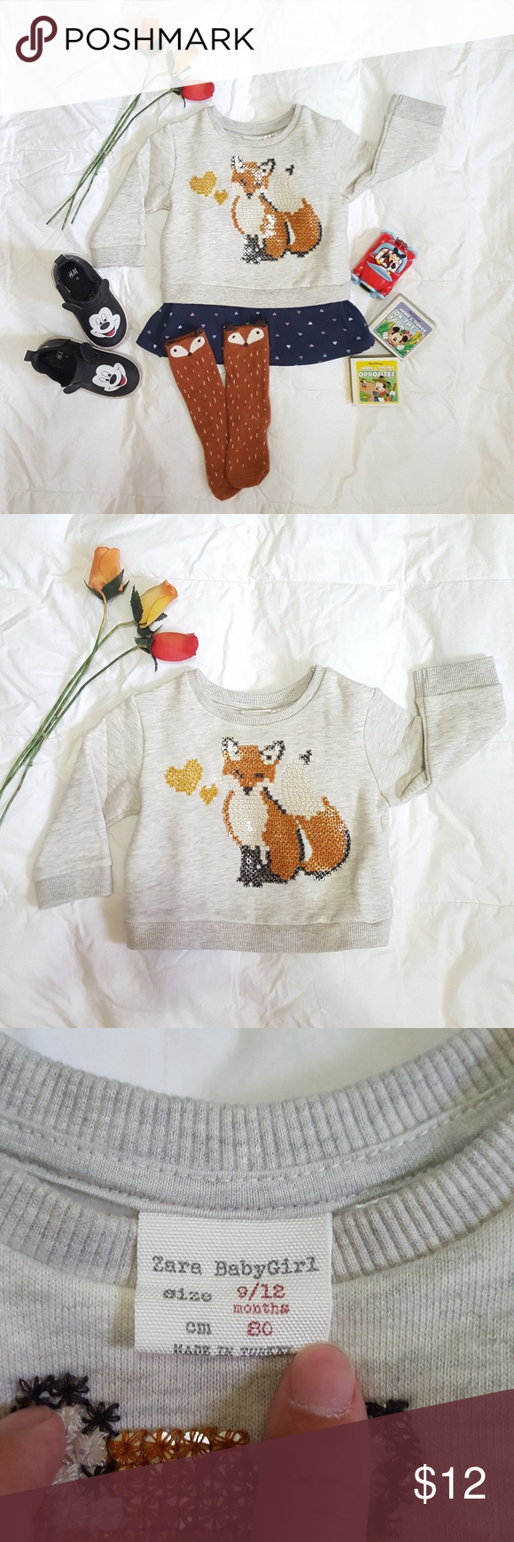 Zara baby girl sweater (With images) | Baby girl sweaters ...