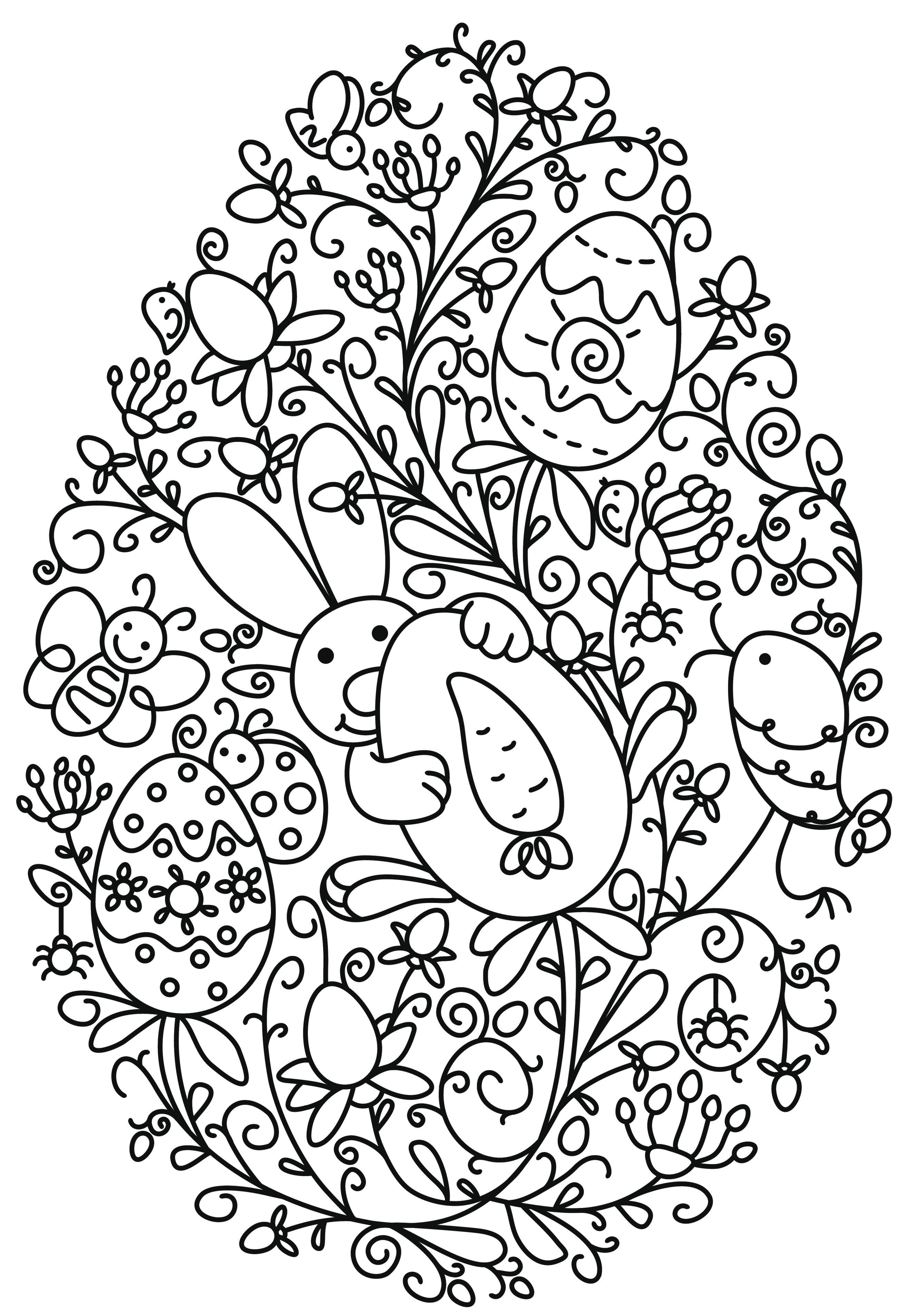 Pin von Loulaly M auf DIY Pâques | Pinterest | Ostern, Ausmalbilder ...