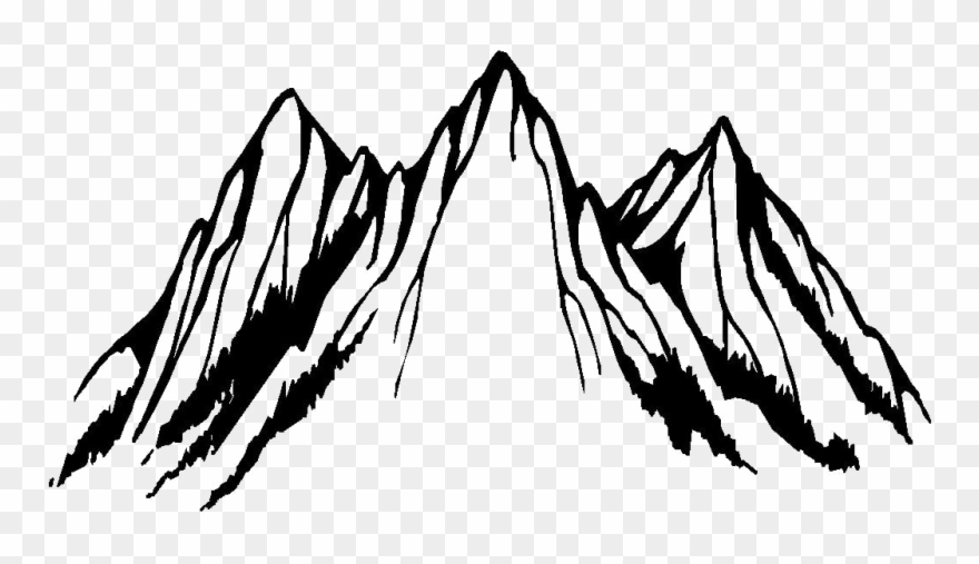Clip Art Black And White Mountain Png Download 3390027 Black And White Clip Art Art