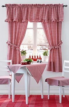 Awesome Magicalhome. Red Kitchen CurtainsFarmhouse ...