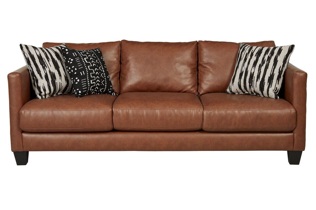 Hubbardston 84 Square Arm Sofa Faux Leather Couch Faux Leather Sofa Best Leather Sofa
