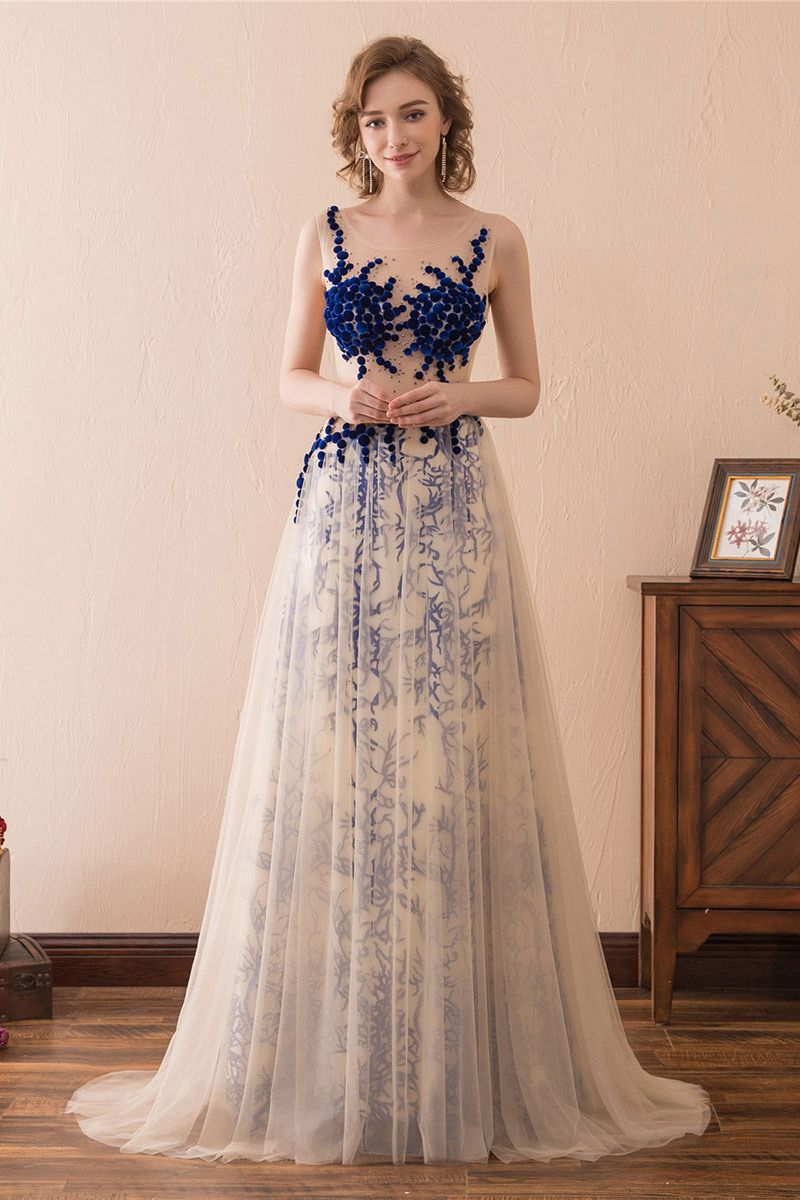 Only $17, Prom Dresses Unique Tulle Lace Prom Dress Long With