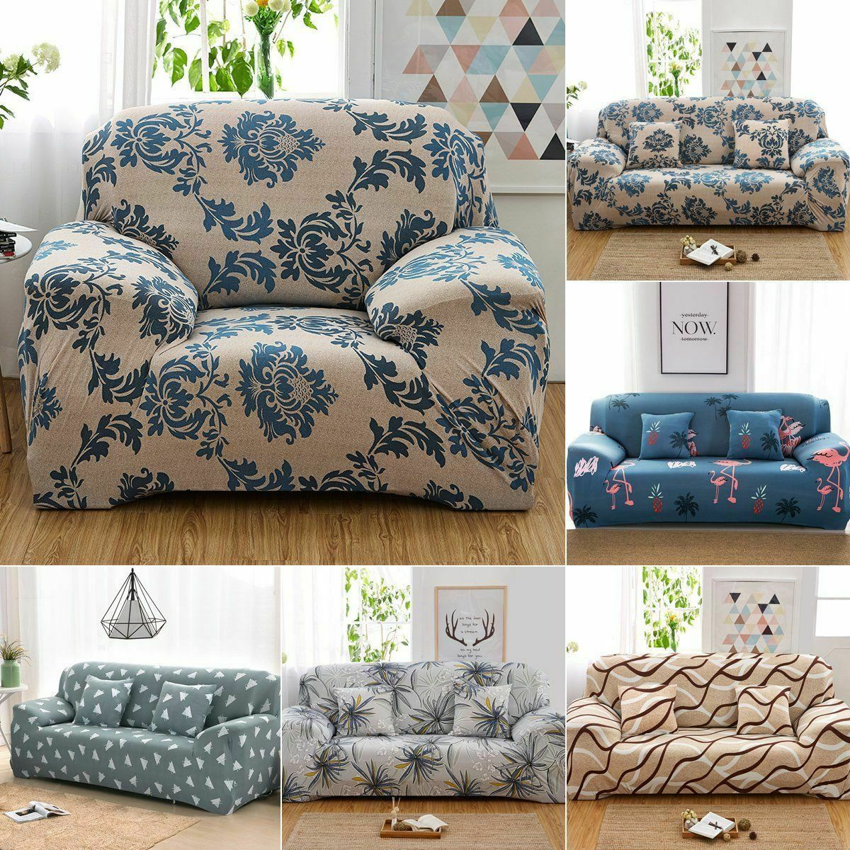 1 2 3 4 Seats Stretch For Sofa Cover Lounge Couch Removable