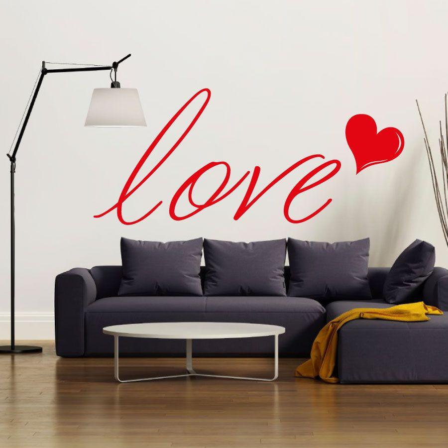Adesivi Murali Frasi d'Amore   LOVE   Adesivi murali ...
