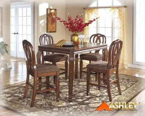 Hamlyn D52732 Ashley Furniture Counterheight Leaf Table Brown Impressive Hamlyn Dining Room Set Decorating Inspiration