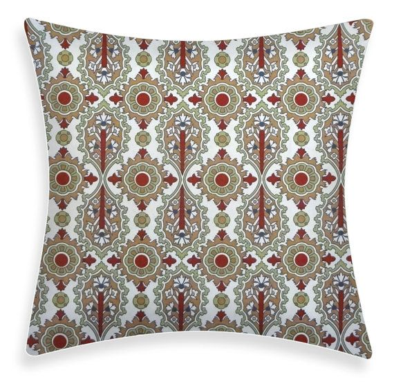 Red / Green Pillow Cover  Elizabeth Rio  INDOOR and by ModDiva, $24.95