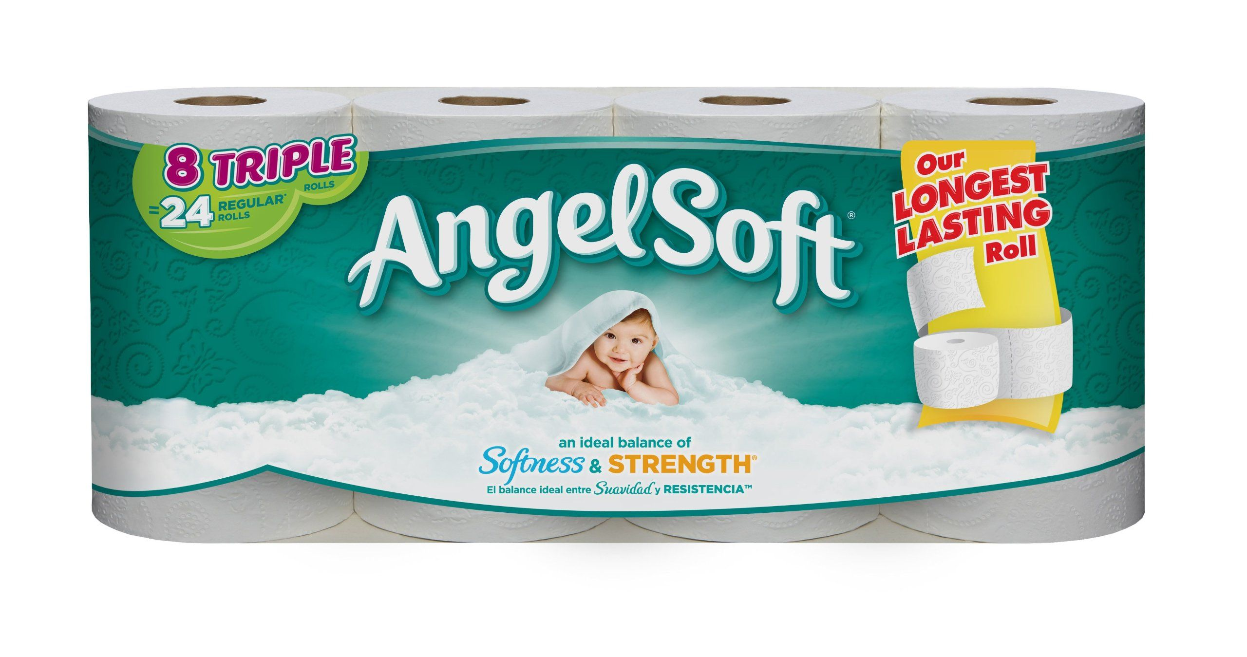 Angel soft bath tissue 8 triple rolls amazonfresh