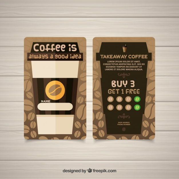 Download Modern Coffee Shop Loyalty Card Template For Free Loyalty Card Coffee Coffee Shop Business Card Loyalty Card