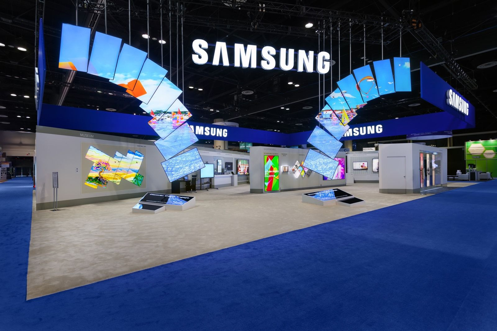 Trade Show Booth Design Ideas browse metros food beverage trade show display ideas in a variety of types and sizes metro exhibits has years of experience designing building Great Design For This Samsung Tradeshow Booth