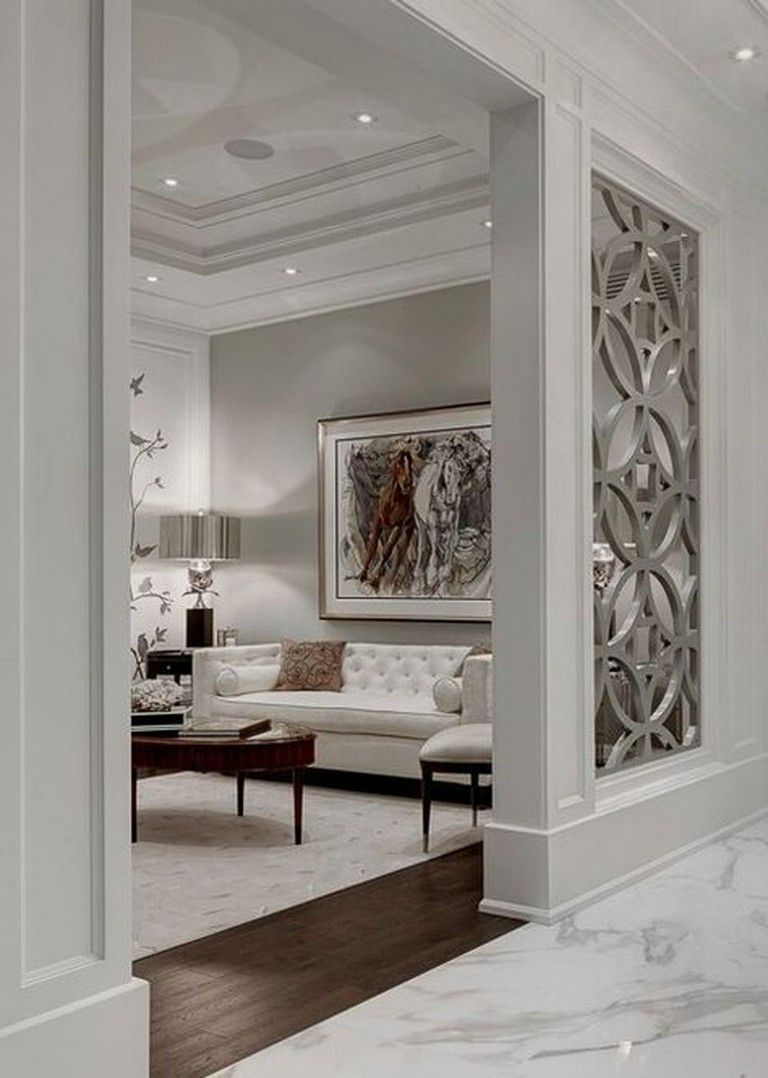 Porte Separation Salon Cuisine 65 new false ceilings with cove lighting design for living