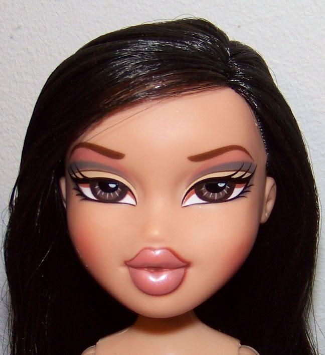 Gallery For Bratz Doll Black Hair Bratz Doll Makeup Brown Hair Cartoon Black Bratz Doll