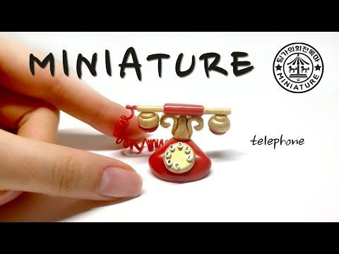 how to: miniature old-fashioned telephone