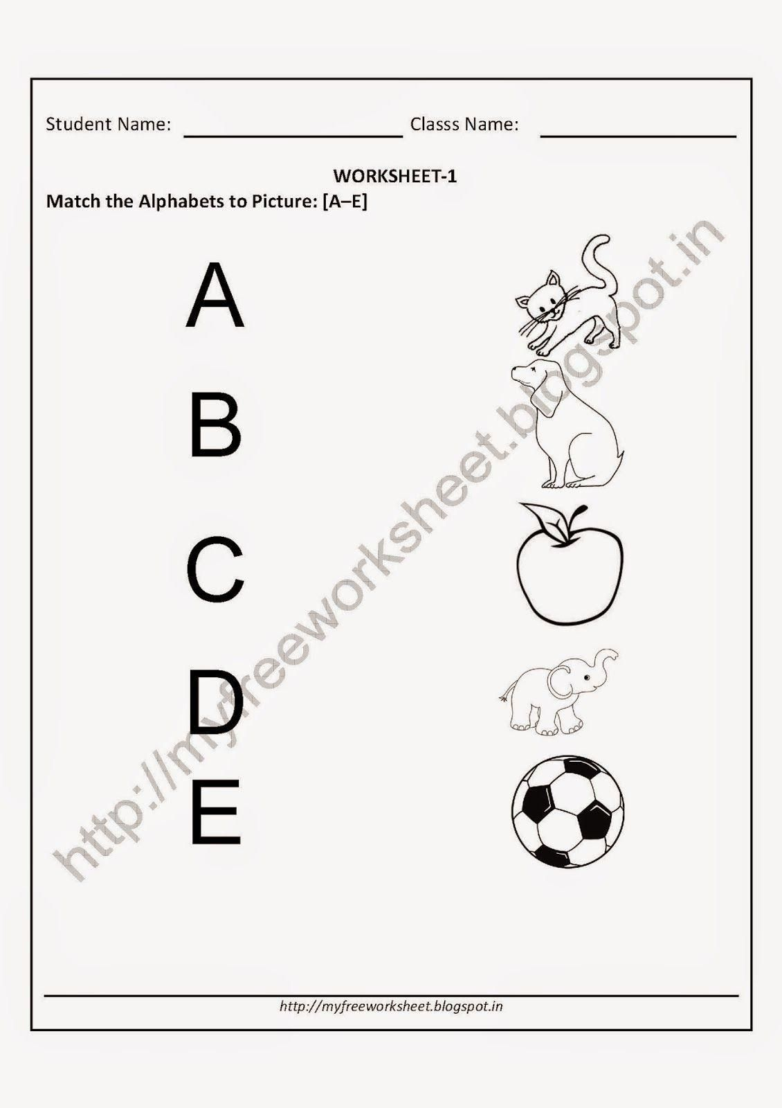 Alphabet Worksheets For Nursery Class In