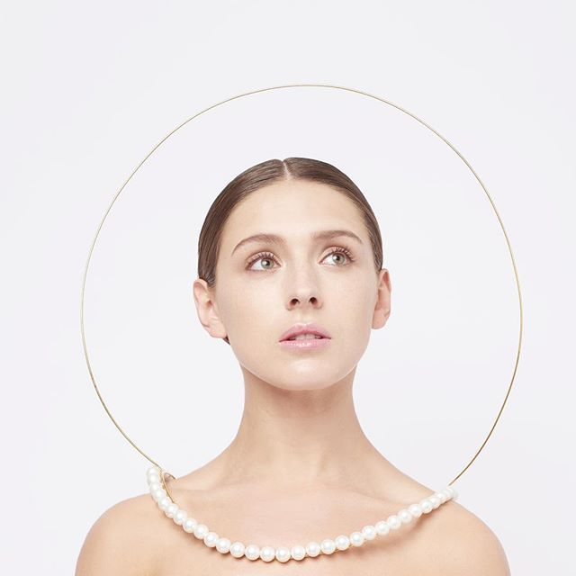 Instagram media by yunsun.jang - I See a Halo Around You Collection By YunSun Jang, 2015 Photograph: Sylvain Deleu. Model: Leona Fletcher. #jewellery #showrca15 #royalcollegeofart #jewelry #jewellerydesign #pearl #halo #space #protection