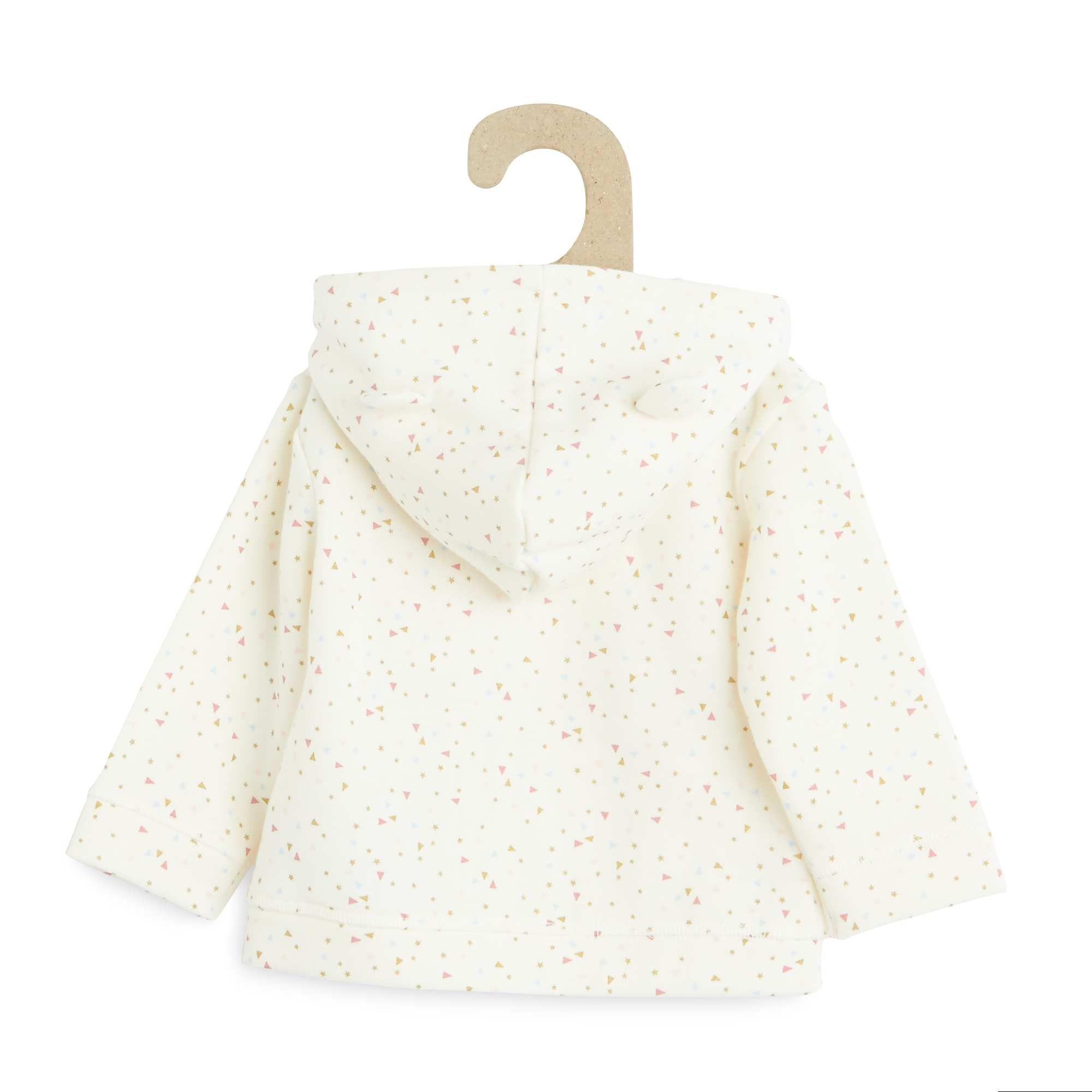 558de220fe3 Sudadera de felpa con capucha blanco nieve Bebé niña