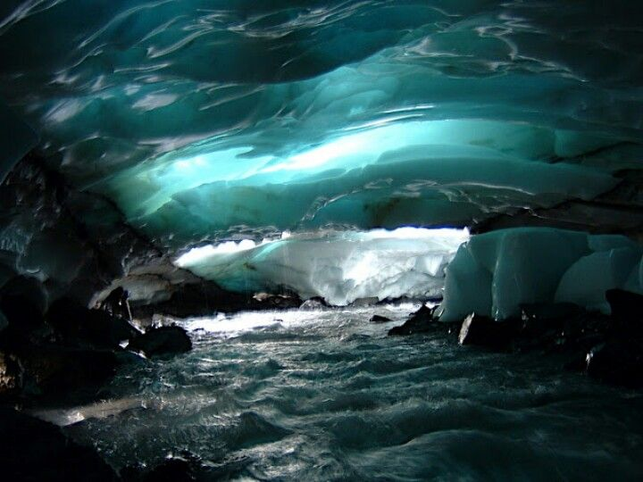 Ice cave in Alaska by Kip Wassink