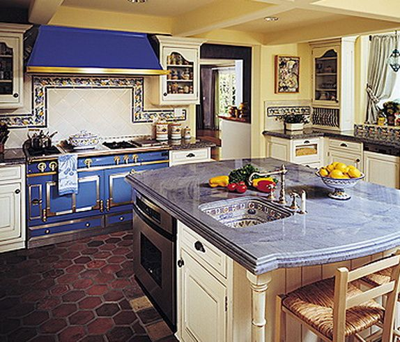 Colorful French Country Kitchen-2