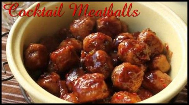 Cocktail Meatballs  http://www.momspantrykitchen.com/cocktail-meatballs.html