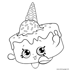 Image Result For Mewarnai Gambar Cupcake Queen Shopkins Mewarnai