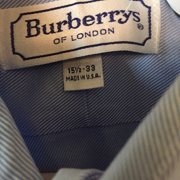 Burberry men's 15 1/2 32-33 men's dress shirt In great condition. Burberry Tops Button Down Shirts