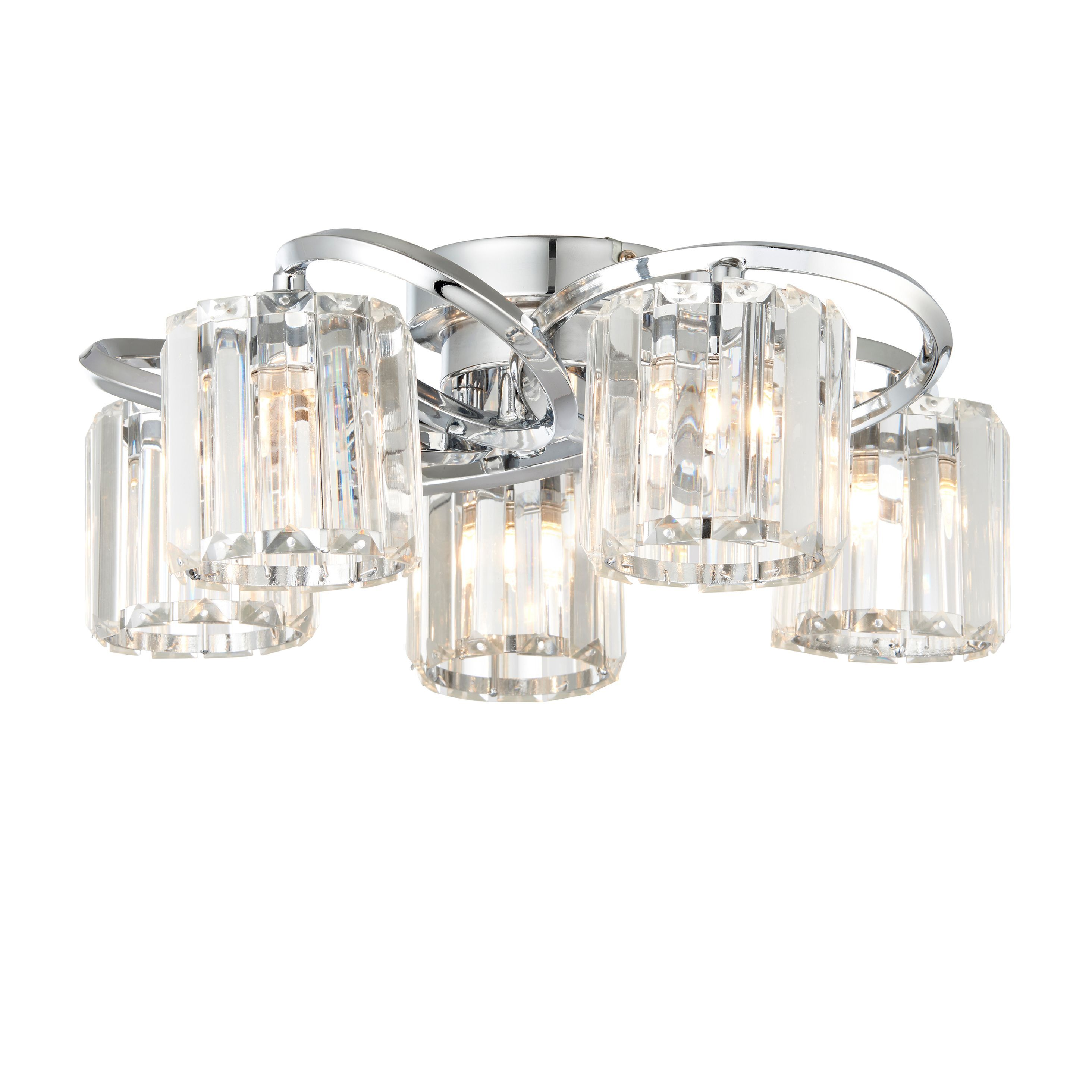 Bromley Bevelled Glass Chrome Effect 5 Lamp Ceiling Light - B&Q for all your  home and garden supplies and advice on all the latest DIY trends