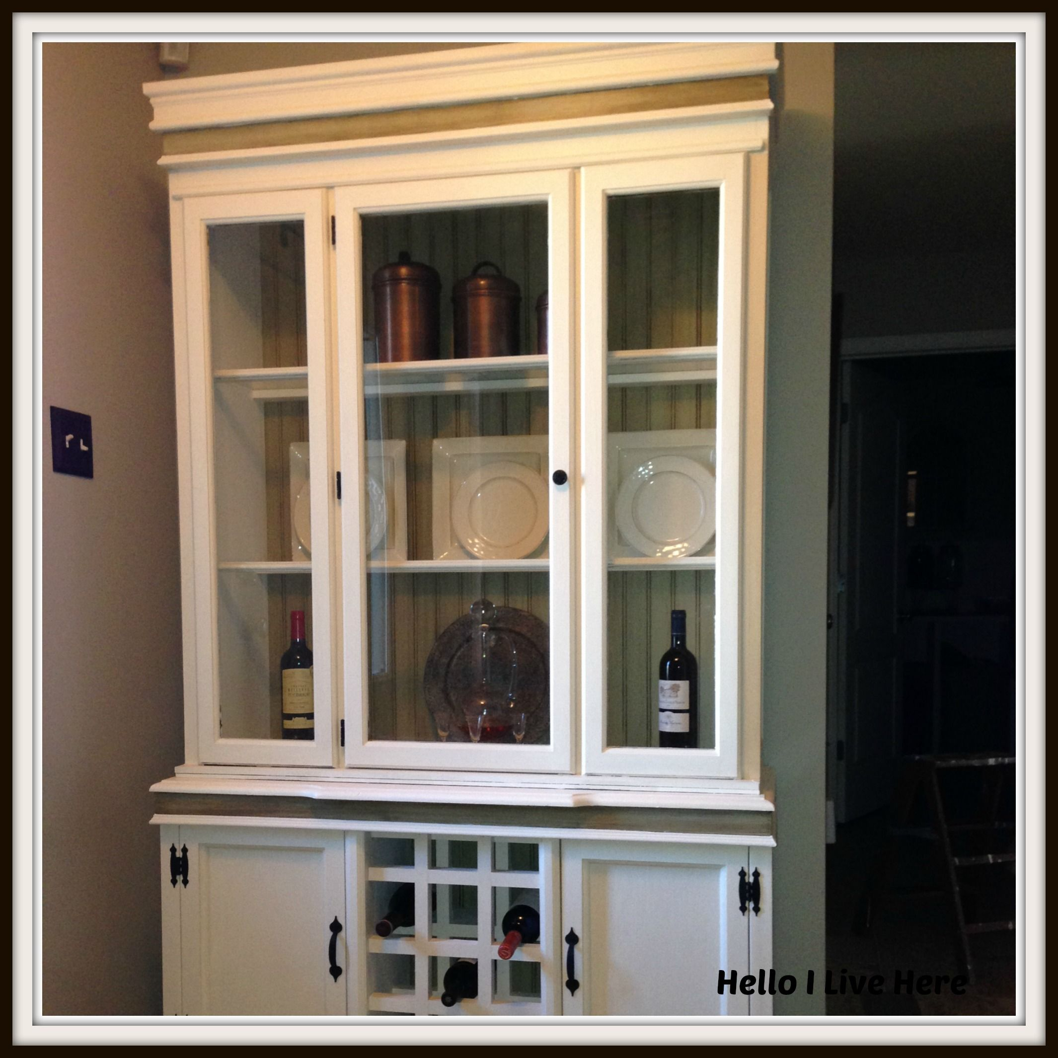 DIY China Hutch Make Over Final Part China Hutch Created by