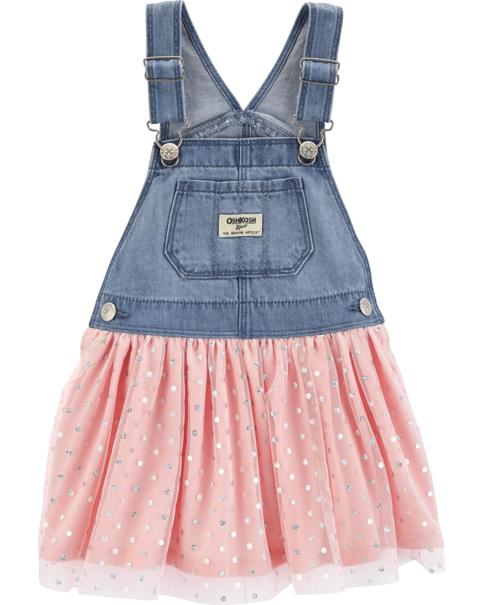 2c39299557b Toddler Girl Polka Dot Tulle Jumper