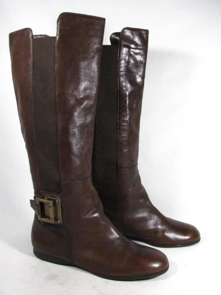 Enzo Angiolini Knee High Riding Boot Women size 7.5 Brown  fashion   clothing  shoes  accessories  womensshoes  boots (ebay link) c66d5e71b