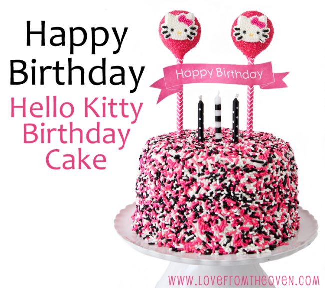 Easy Hello Kitty Cake and simple ways to decorate with themes