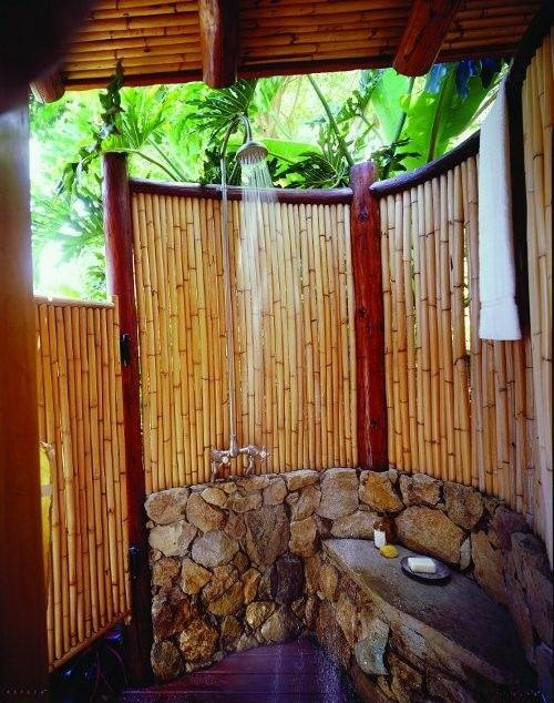 Hollywood hills exterior hawaii design ideas for Outdoor shower doors