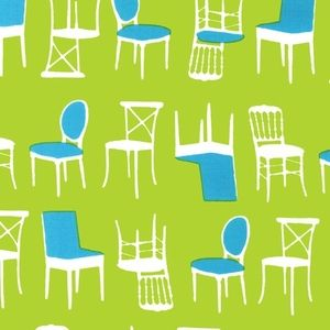 Laurie Wisbrun - Perfectly Perched - Stacked Chairs in Meadow Love it!