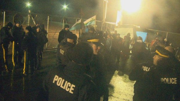 Protesters have been camping out near the Muskrat Falls site since Oct. 15.